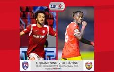 TRỰC TIẾP V.LEAGUE 2020, Than Quảng Ninh 0-0 Hồng Lĩnh Hà Tĩnh: Hiệp 1