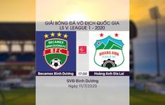 VIDEO Highlights: Becamex Bình Dương 1-1 Hoàng Anh Gia Lai (Vòng 9 LS V.League 1-2020)