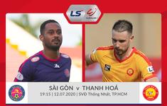 TRỰC TIẾP BÓNG ĐÁ: CLB Sài Gòn - CLB Thanh Hóa (19h15, Vòng 9 LS V.League 1-2020)