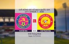 VIDEO Highlights: CLB Sài Gòn 3-0 CLB Thanh Hoá (Vòng 9 LS V.League 1-2020)