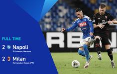 Napoli 2-2 AC Milan: Tội đồ Donnarumma! (Vòng 32 giải VĐQG Italia Serie A)