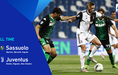 Kết quả, bảng xếp hạng Serie A ngày 16/7: Sassuolo 3-3 Juventus, Milan 3-1 Parma
