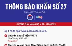 KHẨN: Bộ Y tế tìm người đi máy bay VJ770 và chuyến xe từ Hà Nội vào TP.HCM