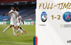 Kết quả Atalanta 1-2 PSG: Ngược dòng kịch tính, Neymar và đồng đội vào bán kết Champions League