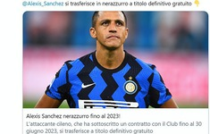 CHÍNH THỨC: Alexis Sanchez gia nhập Inter Milan với bản hợp đồng 3 năm