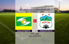 VIDEO Highlights: Sông Lam Nghệ An 2-0 Hoàng Anh Gia Lai (Vòng 12 LS V.League 1-2020)