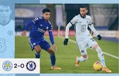 Vòng 18 Ngoại hạng Anh: Thắng Chelsea, Leicester giành ngôi đầu bảng