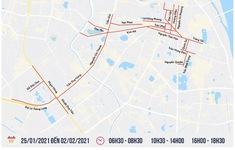 [INFOGRAPHIC] Hà Nội cấm đường và hướng đi mới trong thời gian Đại hội XIII