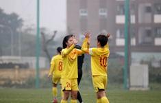 Đội hình trẻ tuyển nữ Quốc gia thắng đậm đội nữ Hà Nội II