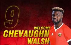 Hồng Lĩnh Hà Tĩnh ký hợp đồng với Chevaughn Walsh