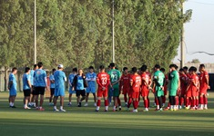 ĐT U23 Việt Nam đẩy cao khối lượng vận động trong buổi tập cuối cùng tại UAE