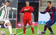 Cuộc đua chiếc giày vàng châu Âu: Lewandowski dẫn đầu, Messi đuổi kịp CR7