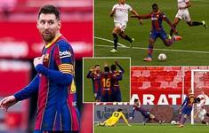 Sevilla 0-2 Barcelona: Messi tỏa sáng