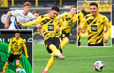 Tài kiến tạo giúp Sancho điền tên vào lịch sử Bundesliga