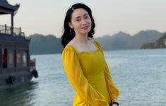 """Quách Thu Phương trẻ trung bất ngờ trong hậu trường """"Hương vị tình thân"""""""