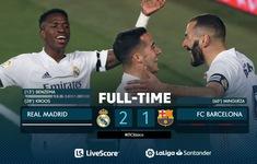 Real Madrid 2-1 Barcelona: Benzema, Kroos lập công, Real giành ngôi đầu
