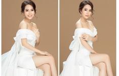 Dương Kim Ánh thả vai trần, khoe chân dài mướt mắt