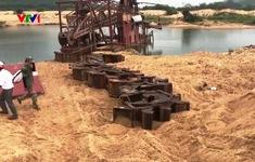 Xử lý công ty phớt lờ quy định, khai thác cát trái phép trên sông Ba