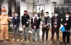 Bắt 6 người nhập cảnh trái phép trên cao tốc Bắc Giang - Lạng Sơn