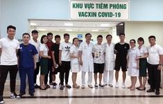 Cầu thủ ĐT Việt Nam hoàn thành việc tiêm phòng COVID-19