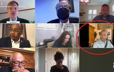 Nghị sĩ Mỹ và sự cố hy hữu khi họp trực tuyến