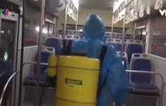 Tăng cường phòng chống dịch trên từng chuyến xe bus