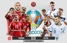 TRỰC TIẾP BÓNG ĐÁ ĐT Đan Mạch – ĐT Phần Lan: 23h00 trên VTV6 | Bảng B UEFA EURO 2020