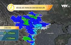 Ảnh hưởng bão số 2, nhiều khu vực ở Bắc Bộ, Trung Bộ có mưa lớn