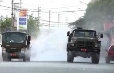 6 xe chuyên dụng phun khử khuẩn toàn bộ khu vực Núi Hiểu, Bắc Giang