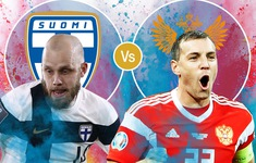 TRỰC TIẾP EURO 2020, ĐT Phần Lan - ĐT Nga: Cơ hội giành vé sớm (20h00 ngày 16/6 trên VTV3 và VTVGo)