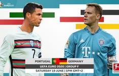 TRỰC TIẾP BÓNG ĐÁ  Bồ Đào Nha 0–0 Đức: Không có bàn thắng cho tuyển Đức (Hiệp 1) | Bảng F UEFA EURO 2020