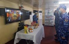 Chiến sỹ Cảnh sát biển chịu tang cha ngoài khơi xa