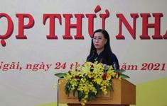 Bí thư Tỉnh ủy Bùi Thị Quỳnh Vân tiếp tục được bầu làm Chủ tịch HĐND tỉnh Quảng Ngãi