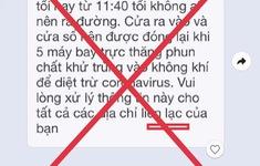Thông tin TP Hồ Chí Minh sử dụng 5 trực thăng phun chất khử trùng là sai sự thật