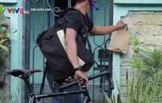 Đội quân xe đạp giao hàng cho người bị cách ly