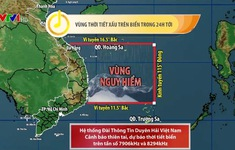 Áp thấp nhiệt đới cách Phú Yên, Bình Định 280-290 km, có thể mạnh lên thành bão trong 12 giờ tới