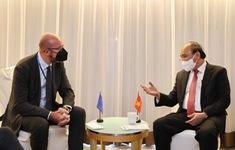 Chủ tịch nước mong EU tiếp tục hỗ trợ Việt Nam tiếp cận nguồn cung vaccine COVID-19