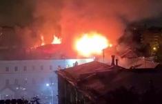 Cháy lớn tại ký túc xá trường quân sự danh tiếng ở thủ đô Nga
