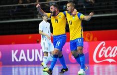 CẬP NHẬT Kết quả, lịch thi đấu và trực tiếp vòng 1/8 FIFA Futsal World Cup Lithuania 2021™: Argentina 6-1 Paraguay, Kazakhstan 7-0 Thái Lan, Brazil 3-2 Nhật Bản