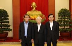 Ba nhà lãnh đạo Việt Nam - Campuchia - Lào nhất trí tăng cường hợp tác trong các lĩnh vực