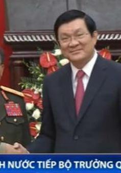 Chủ tịch nước tiếp Bộ trưởng Quốc phòng Lào