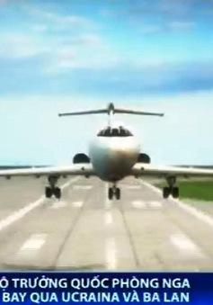 Máy bay chở Bộ trưởng Quốc phòng Nga bị Ukraine giới hạn không phận