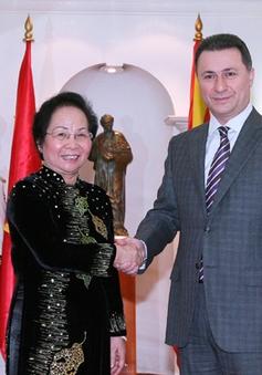 Phó Chủ tịch nước Nguyễn Thị Doan hội kiến Thủ tướng và Chủ tịch Quốc hội Macedonia