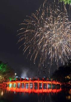 Hà Nội bắn pháo hoa kỷ niệm 60 năm Giải phóng Thủ đô