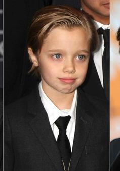 Bé Shiloh giống hệt Brad - Angelina