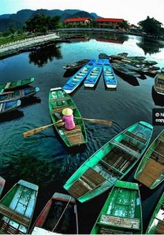 Bến thuyền ở khu du lịch Tràng An
