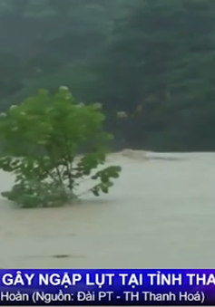 Mưa lớn gây ngập lụt nghiêm trọng tại Thanh Hóa