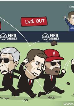 Biếm họa: Van Gaal nhận gạch đá, Arsenal thành bệnh viện
