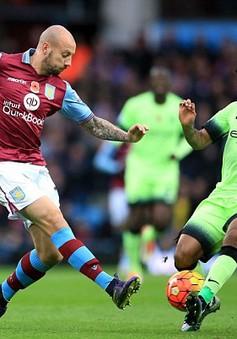Aston Villa 0-0 Man City: Mất điểm, mất người, mất ngôi đầu!