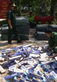 Long An: Bắt giữ 14.000 gói thuốc lá lậu